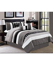 Luxlen Broadwell 7 Piece Comforter Set, Cal King