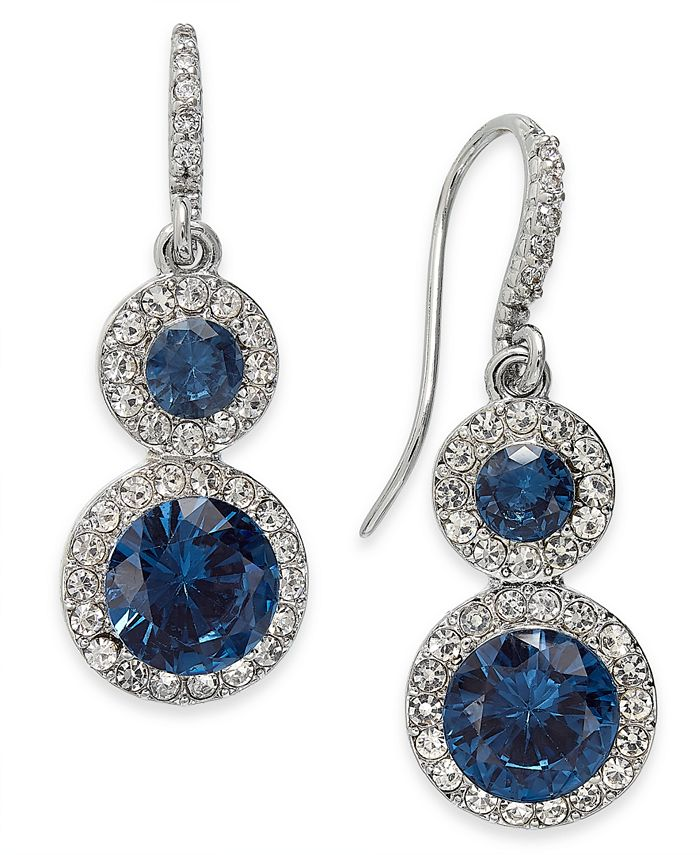 Charter Club - Crystal & Stone Halo Drop Earrings