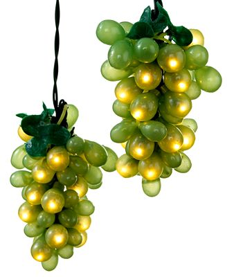 Kurt Adler Indoor/Outdoor String Lights, Green Grapes - Collections - For The Home - Macy s