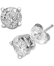 EFFY® Diamond Stud Earrings (1/2 ct. t.w.) in 14k White Gold