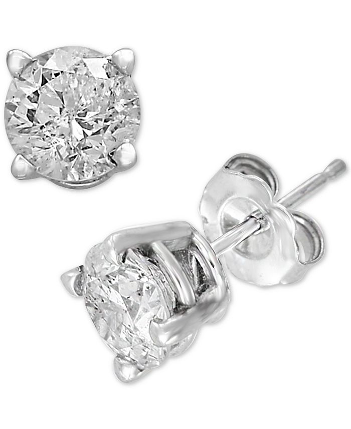 EFFY Collection - Diamond Stud Earrings (1/2 ct. t.w.) in 14k White Gold