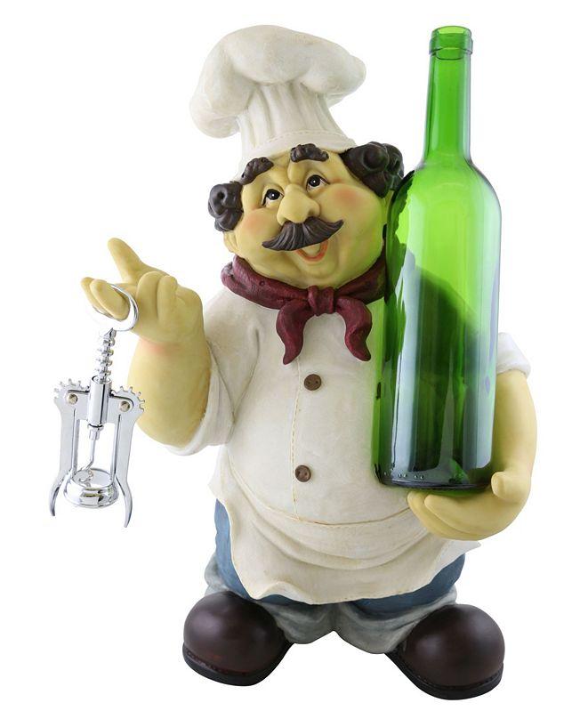 Wine Bodies Chef Bottle Holder with Cork Opener