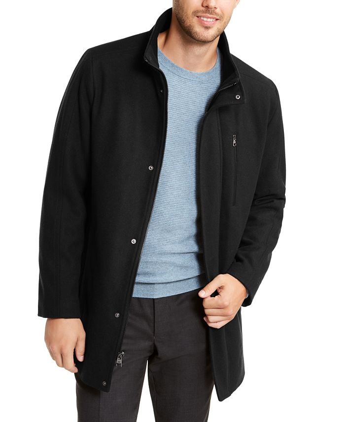 Calvin Klein - Men's Long Open Bottom Overcoat