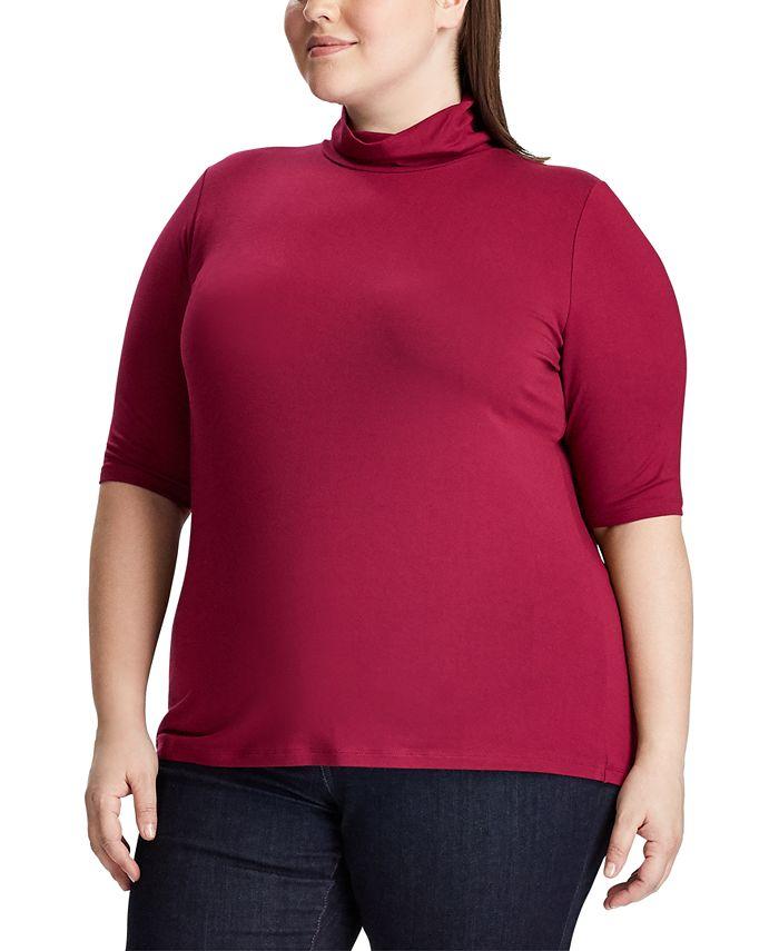 Lauren Ralph Lauren - Plus Size Stretch Turtleneck Top