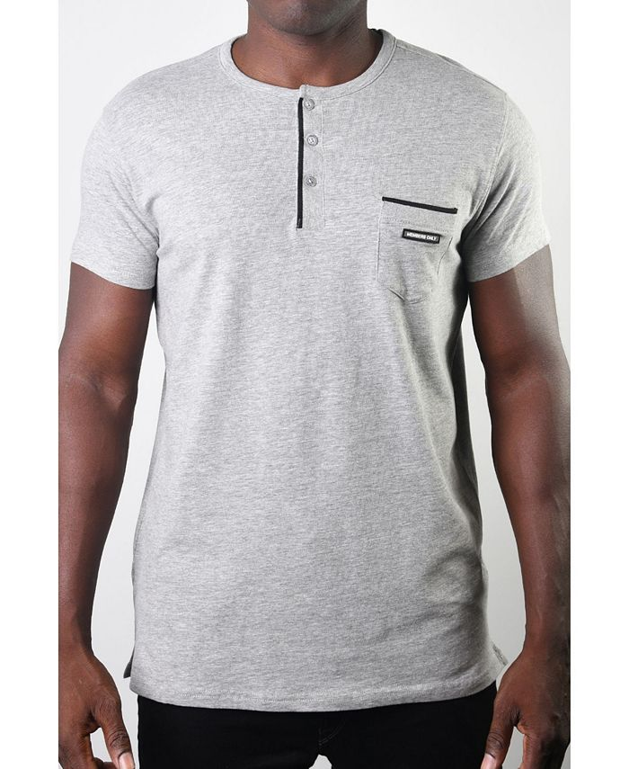 Members Only - Men's Basic Henley 3 Button Pocket Tee
