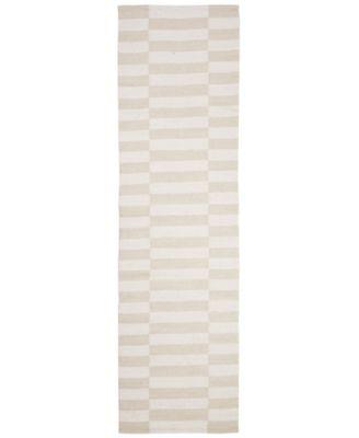 "Ludlow Stripe LRL7350D Alabaster 2'3"" X 8' Runner Area Rug"