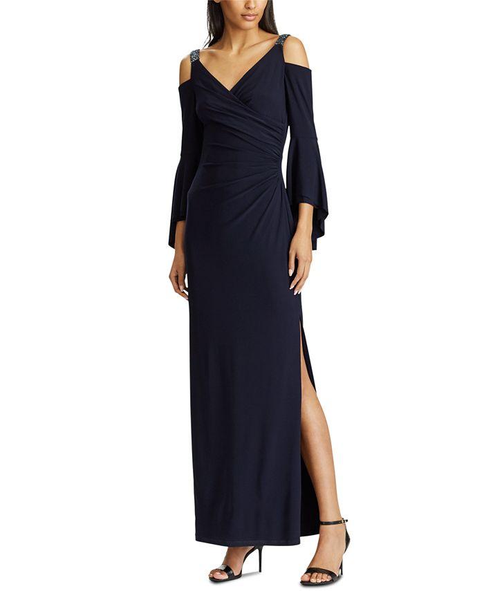 Lauren Ralph Lauren - Cold-Shoulder Evening Gown