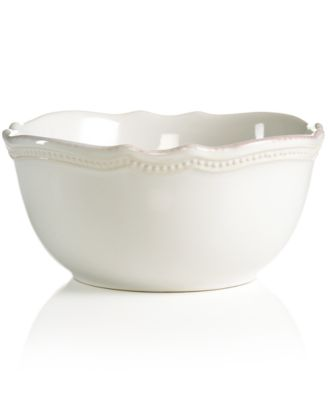 Lenox Dinnerware, French Perle Bead White All-Purpose Bowl