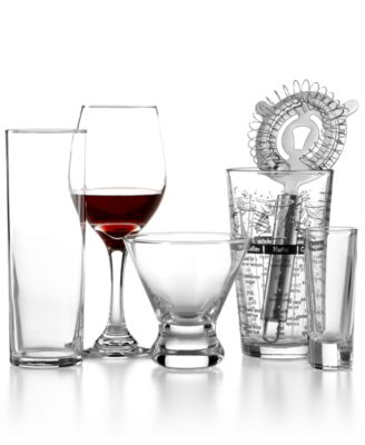 The Cellar Glassware, 16-Piece Wine and Bar Set