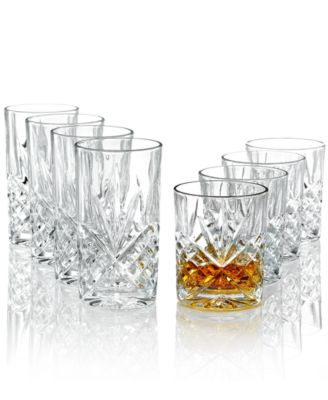 Godinger Barware, Dublin Double Old-Fashioned and Highball Glasses, Set of 8