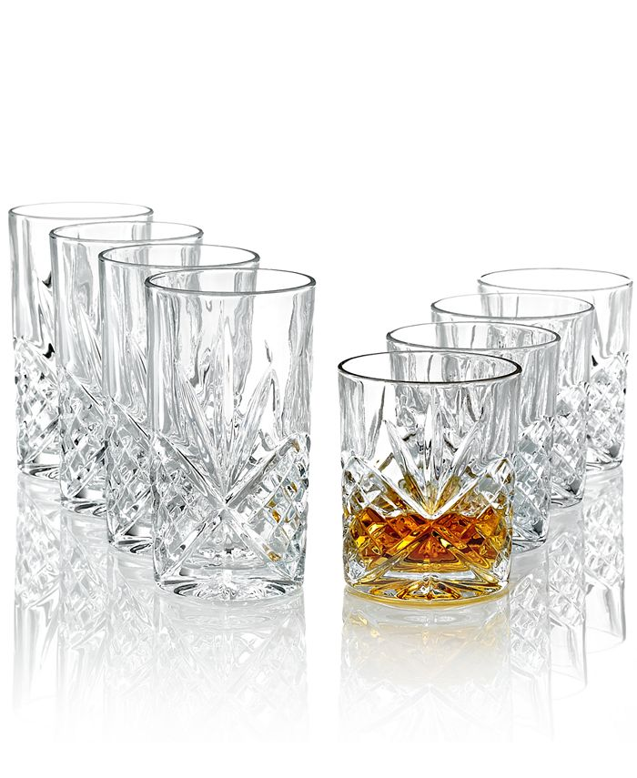 """Godinger - """"Dublin"""" Double Old-Fashioned and Highball, Set of 8"""