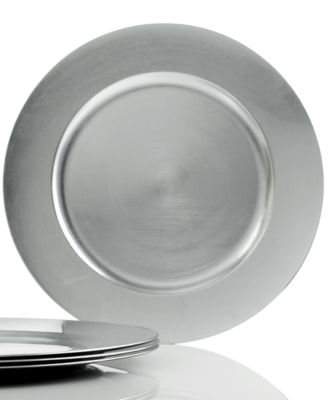 Charter Club Dinnerware, Set of 4 Platinum Charger Plates