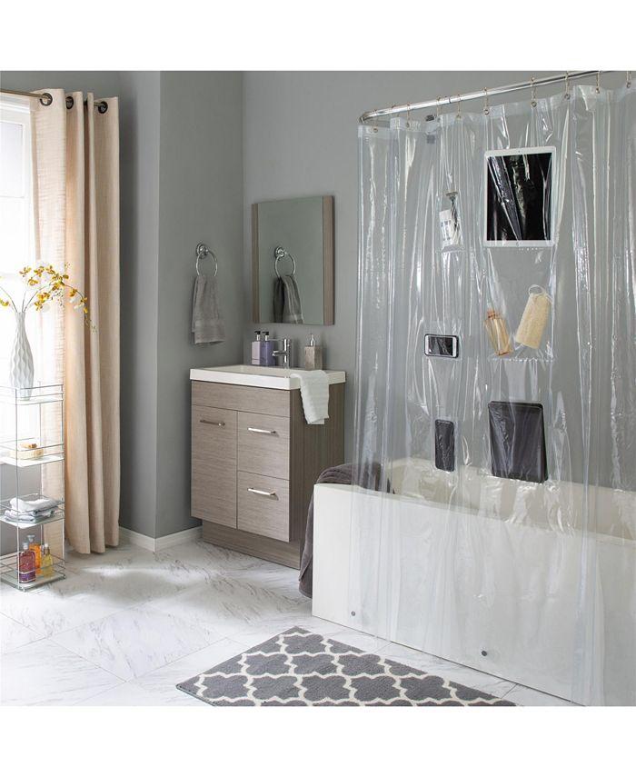 Bath Bliss - 6 Pocket Tech Shower Curtain Liner