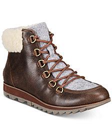 Sorel Women's Harlow Lace Cozy Lug Sole Boots