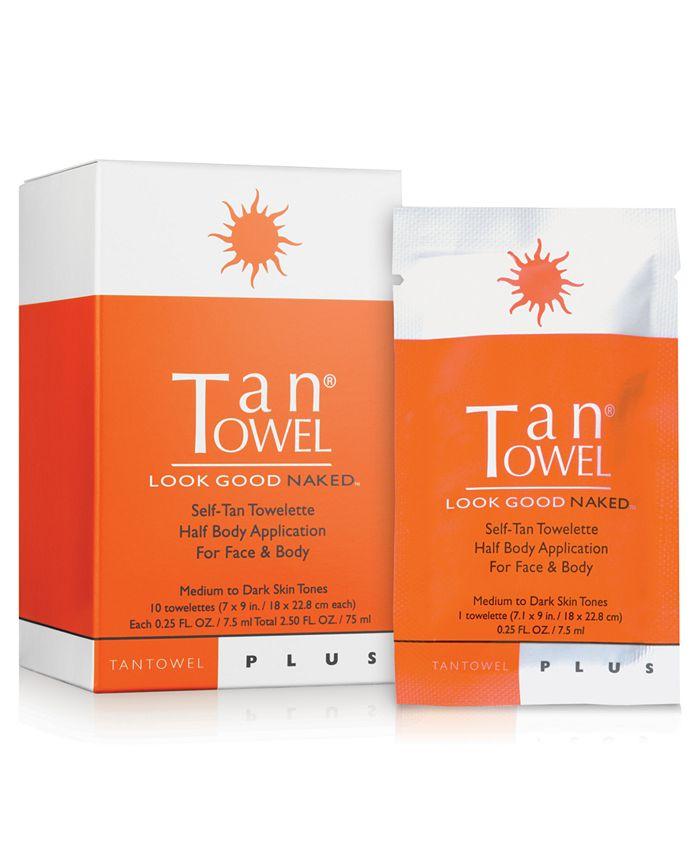 TanTowel - Tan Towel Half Body Towelettes Plus, 10 pack