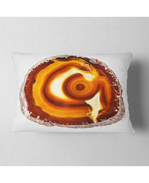 Design Art Designart Vibrant Agate Geode Slice Abstract Throw Pillow 12 X 20 Reviews Decorative Throw Pillows Bed Bath Macy S