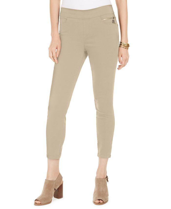 Tommy Hilfiger Sateen Th Flex Skinny Ankle Pants Reviews Pants Leggings Women Macy S