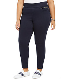 Tommy Hilfiger Plus Size Gramercy Sateen Ankle Pants, Created for Macy's