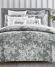 CLOSEOUT! Charter Club Damask Designs Woven Floral Cotton 300-Thread Count 3-Pc. Full/Queen Duvet Set, Created for Macy's