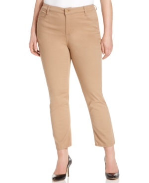 Jones New York Signature Plus Size Jeans, Ankle-Length Colored Skinny