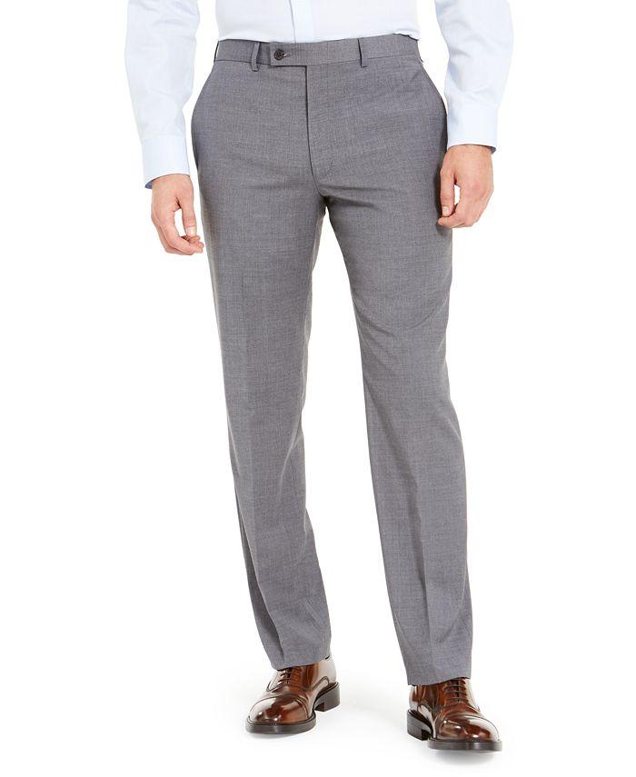 Lauren Ralph Lauren - Men's Wool-Blend Classic-Fit UltraFlex Stretch Dress Pants