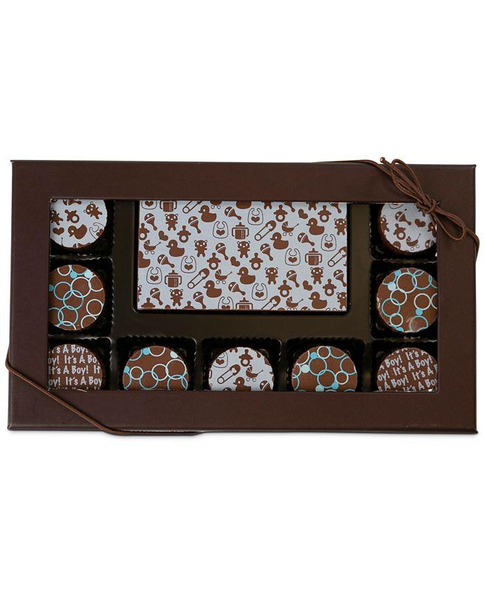Chocolate Works - 10-Pc. Baby Boy  Gourmet Chocolate Truffles