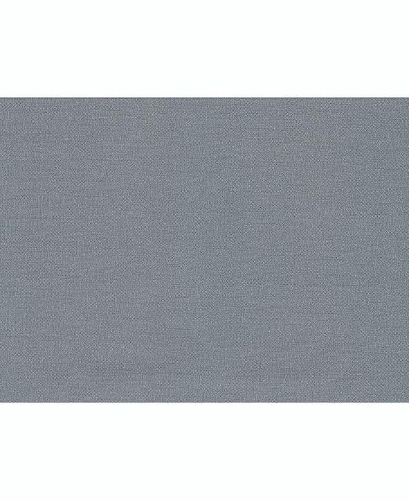 """Warner Textures 27"""" x 324"""" Theon Denim Linen Texture Wallpaper"""