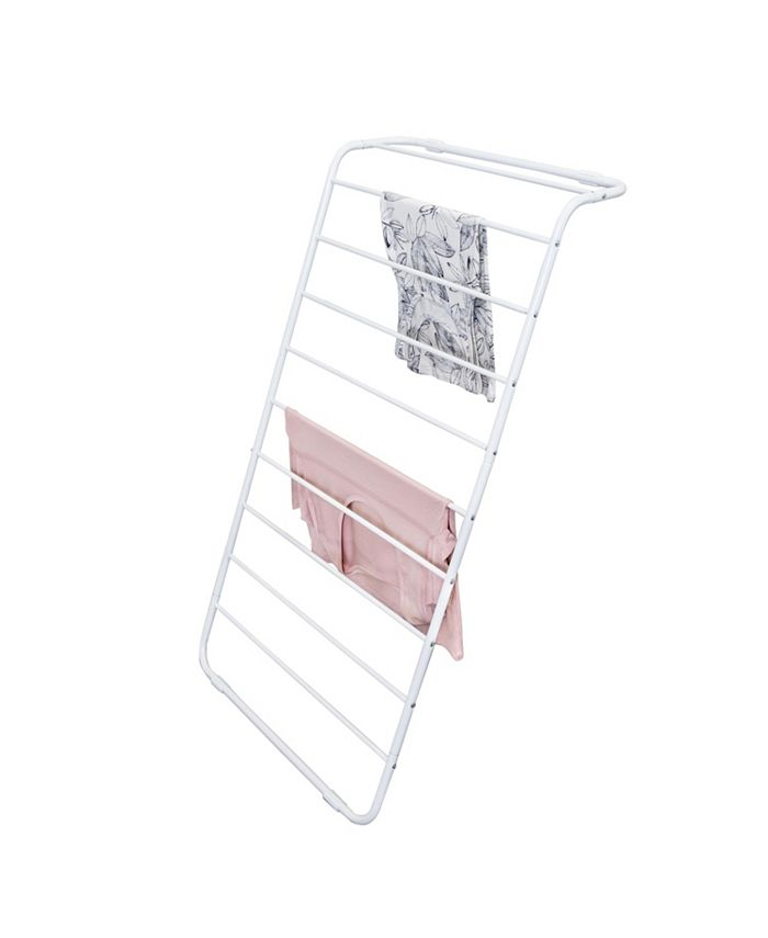 Honey Can Do - Leaning Clothes Drying Rack, White