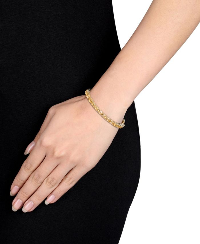 Macy's Oval-Cut Citrine (6-3/4 ct. t.w) Bangle in 18k Yellow Gold Over Sterling Silver & Reviews - Bracelets - Jewelry & Watches - Macy's