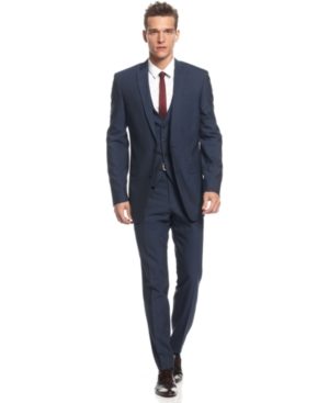 Bar Iii Jacket Midnight Blue Slim Fit $ 400.00
