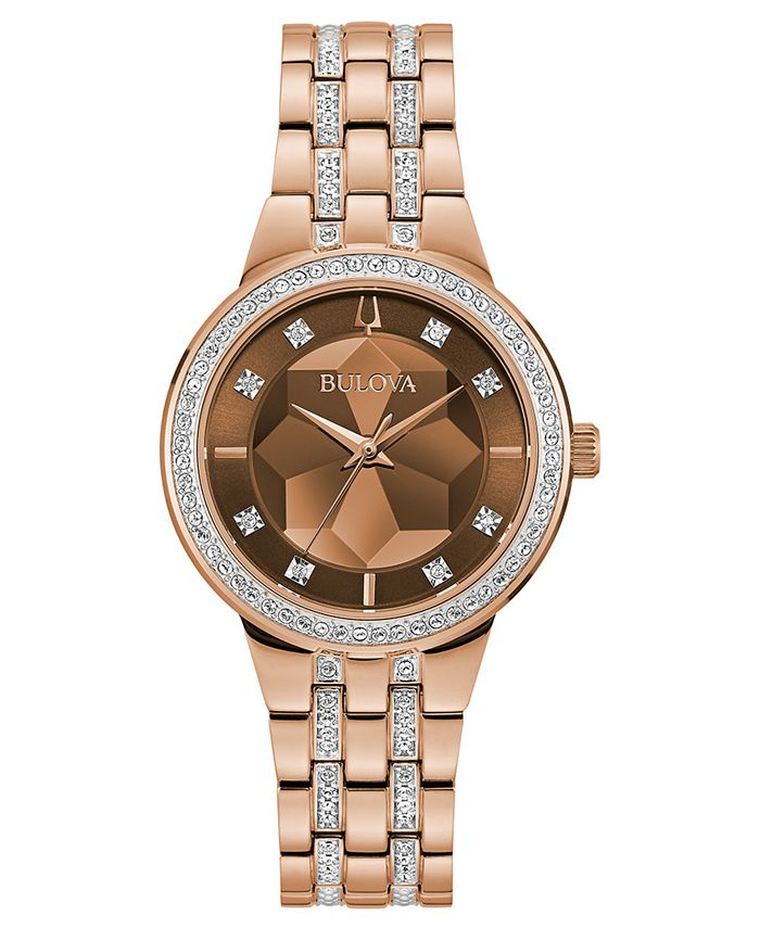 Bulova - Women's Phantom Two-Tone Stainless Steel & Crystal Bracelet Watch 32.5mm
