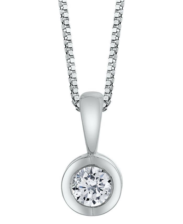 Macy's - Sirena Diamond (1/10 ct. t.w.) Energy Pendant in 14k White, Yellow or Rose Gold