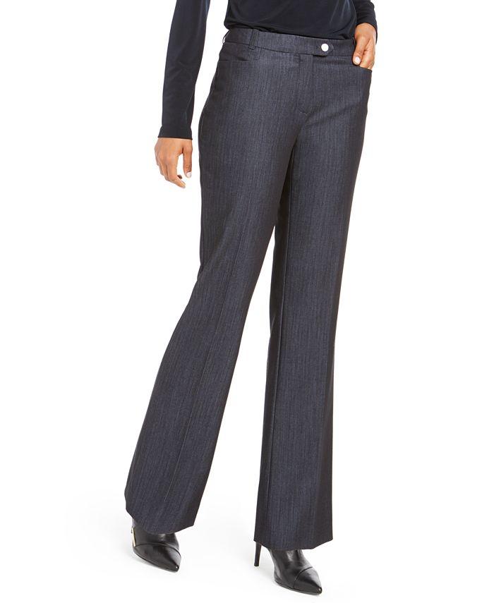 Calvin Klein - Petite Modern Straight-Leg Pants