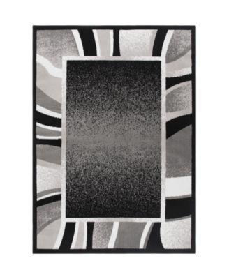 "Global Rug Design Loma LOM03 Black 5'2"" x 7'4"" Area Rug"