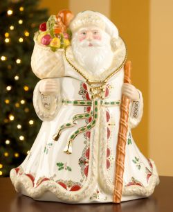 Lenox Quot Woodland Quot Santa Cookie Jar News Search