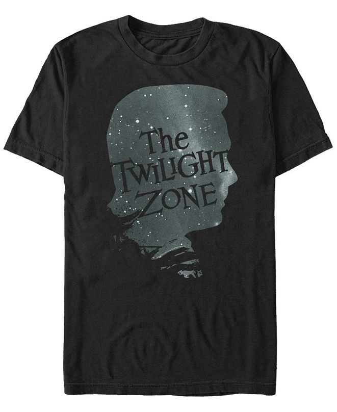 Twilight Zone CBS Men's Galactic Icon Face Profile Short Sleeve T-Shirt