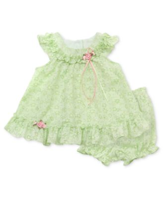 Rare Editions Baby Dress Baby Girls Popover Sundress with Diaper Cover