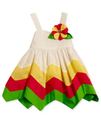 Bonnie Baby Dress Baby Girls Hanky-Hem Poplin Sundress
