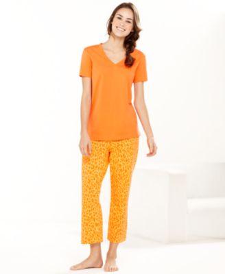 Hue Pajamas, Lulu Leopard Top and Capri Pants Set