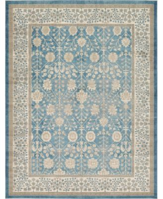 Bellmere Bel3 Light Blue 2' x 6' Runner Area Rug