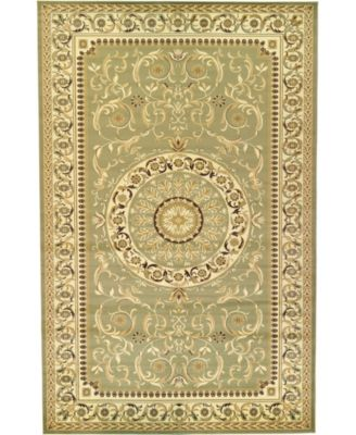 Belvoir Blv2 Light Green 8' x 8' Square Area Rug