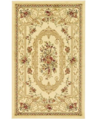 Belvoir Blv3 Ivory 4' x 4' Square Area Rug