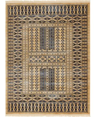 Borough Bor4 Beige 8' x 8' Square Area Rug