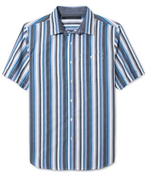 Sean John Shirt Bold Stripe Dobby Short Sleeve Shirt