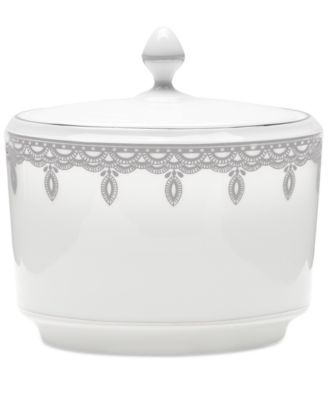 Waterford Lismore Lace Platinum Sugar Bowl with Lid