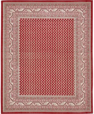 Axbridge Axb1 Red 5' x 8' Area Rug