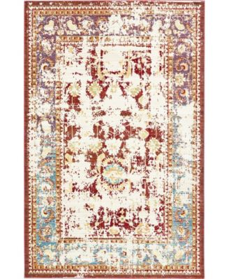 Malin Mal1 Red 6' x 9' Area Rug