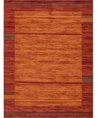 Jasia Jas11 Terracotta 5' x 8' Area Rug