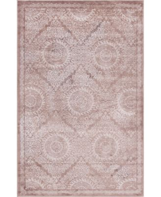 Anika Ani3 Light Brown 5' x 8' Area Rug