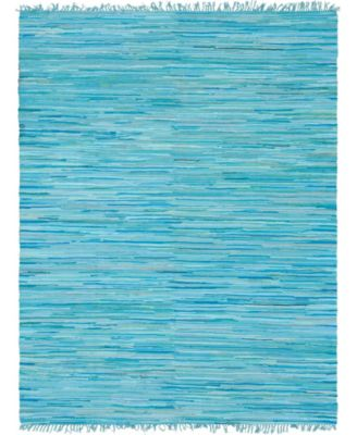 Jari Striped Jar1 Turquoise 9' x 12' Area Rug